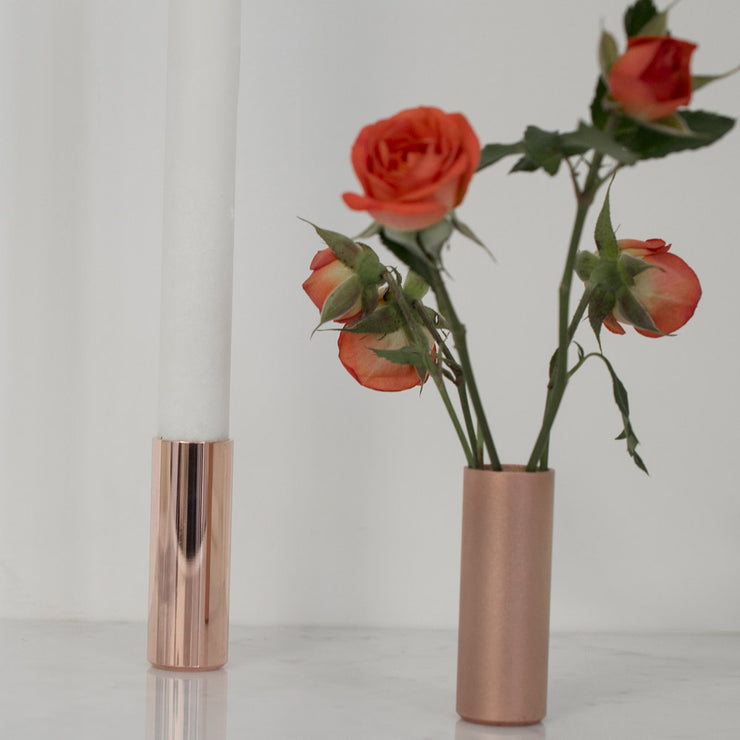 copper pot | candle holders | flower vase