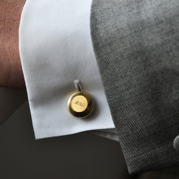 edward brass cufflinks | personalised