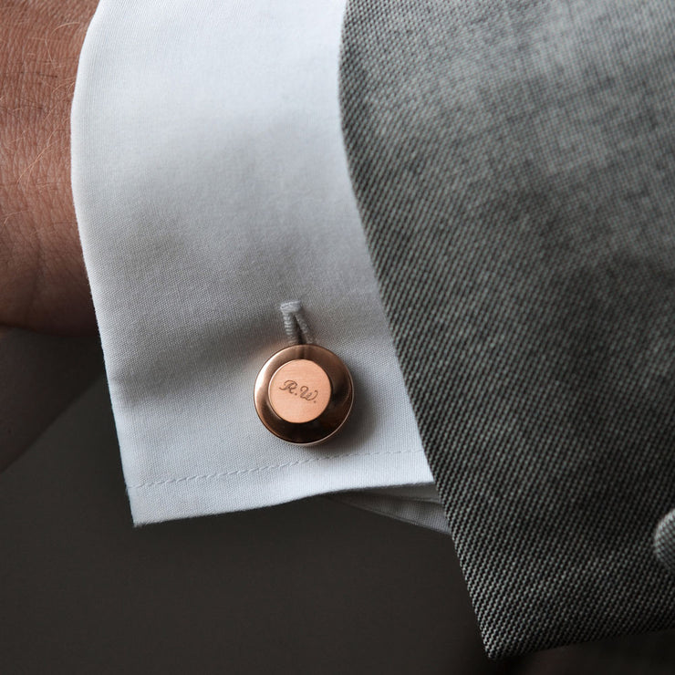 edward copper cufflinks | how to wear