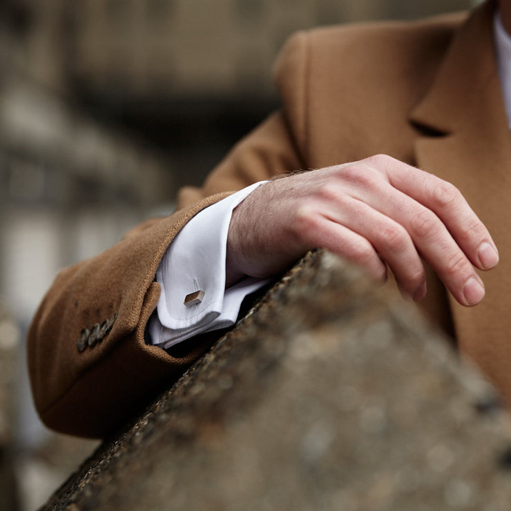 erno silver cufflinks | how to wear