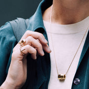 hope gold necklace | how to wear
