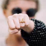 kitson silver ring | how to wear