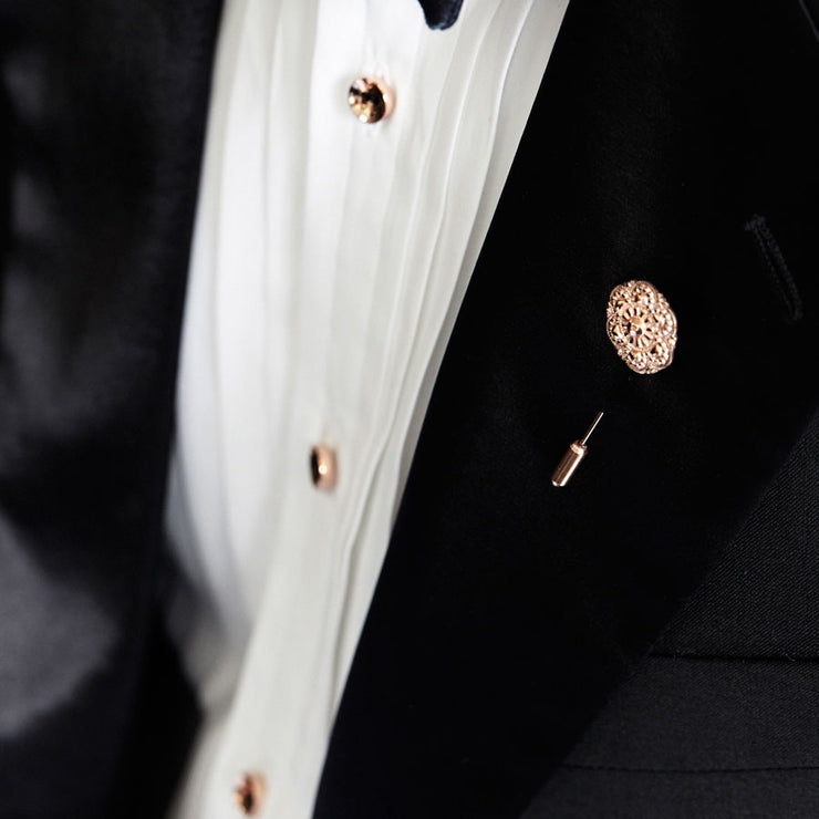 rose gold shirt stud | how to wear