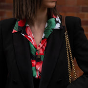 ava gold necklace | how to wear | shirt