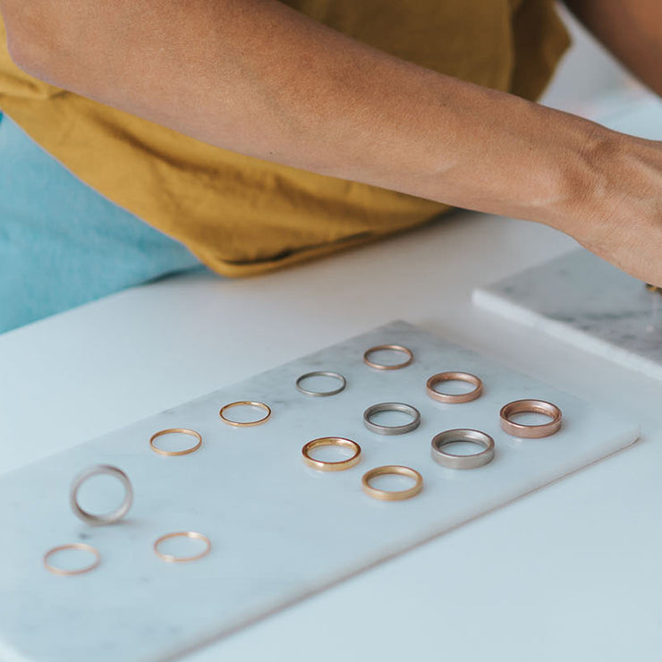 designer wedding rings | studio appointments available