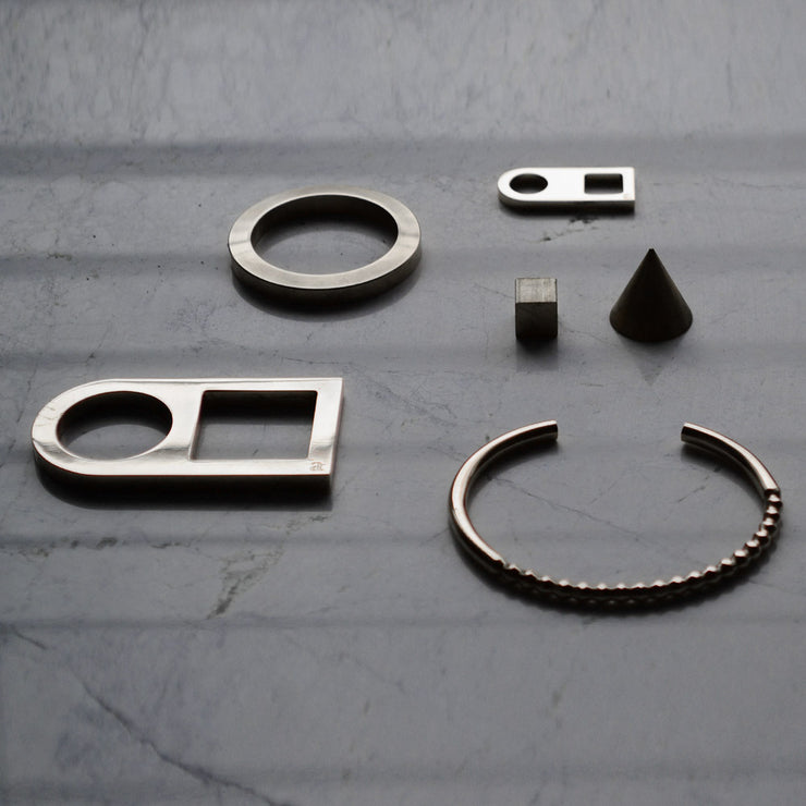 geometric jewellery | precision milled jewellery