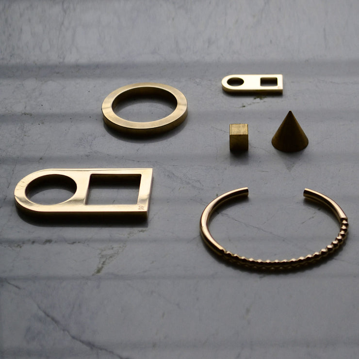 geometric jewellery | precision milled