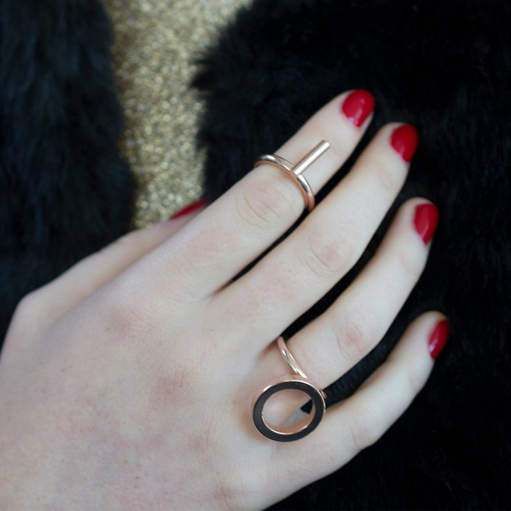 kitson rose gold ring | how to wear | fore finger ring