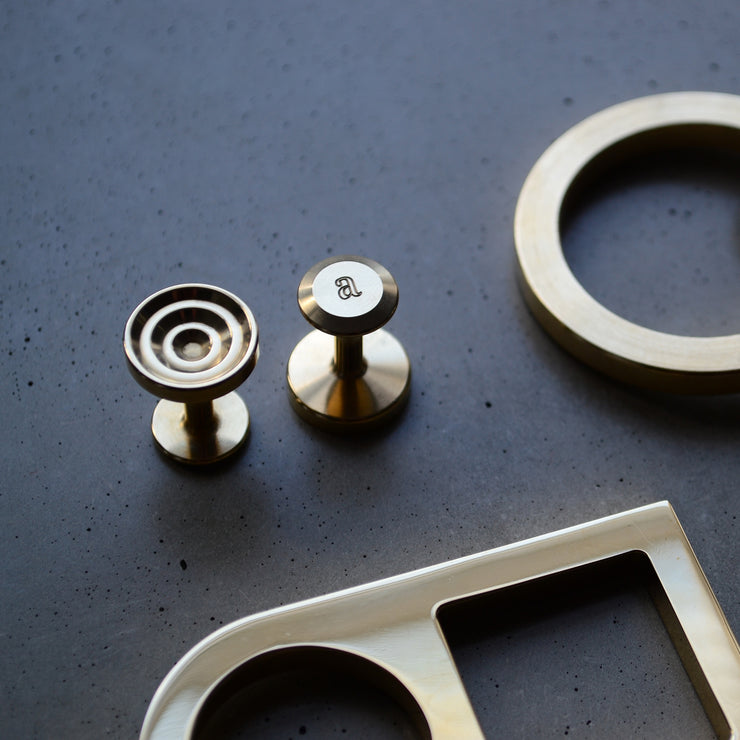 lucas brass cufflinks | close up