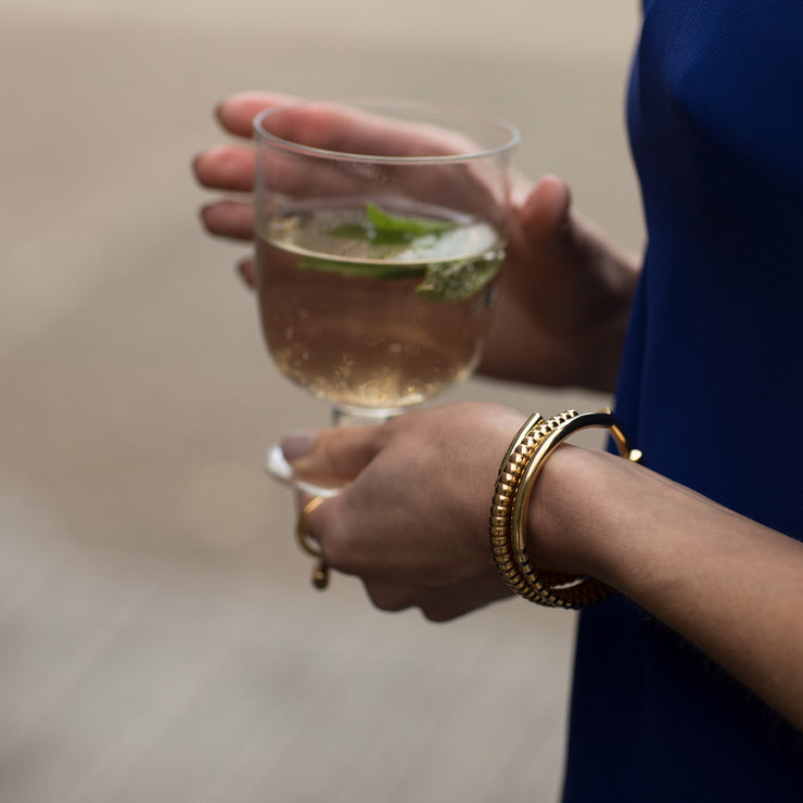 oscar brass bracelet | how to wear | evening