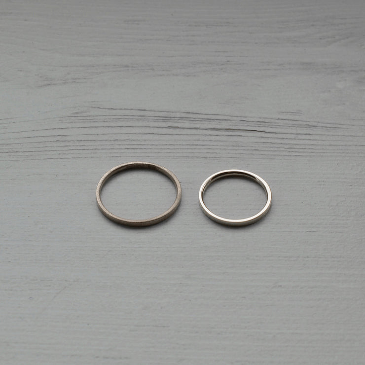 white gold and platinum wedding rings | his and hers