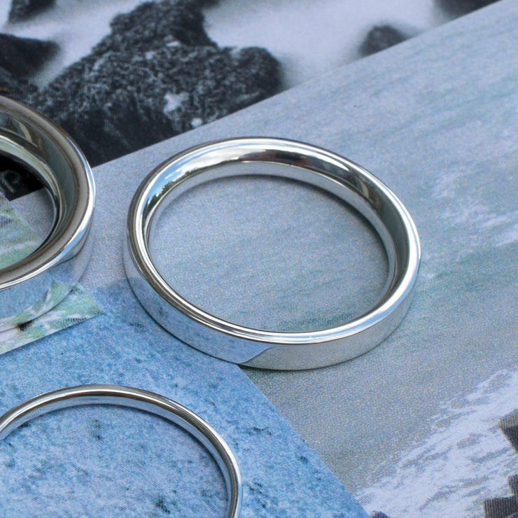4mm polished silver ring | mens silver rings