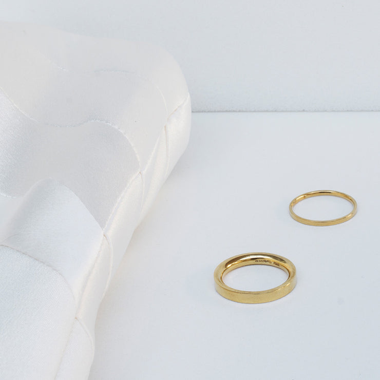 Alice Made This | gold 4mm and 2mm wedding rings