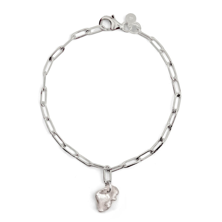 bardo silver bracelet | single charm | water casting