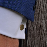 dot brass cufflinks | how to wear