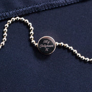 dot gold bracelet | engraving detail