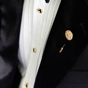 elliot gold shirt studs | how to wear | black tie accessories
