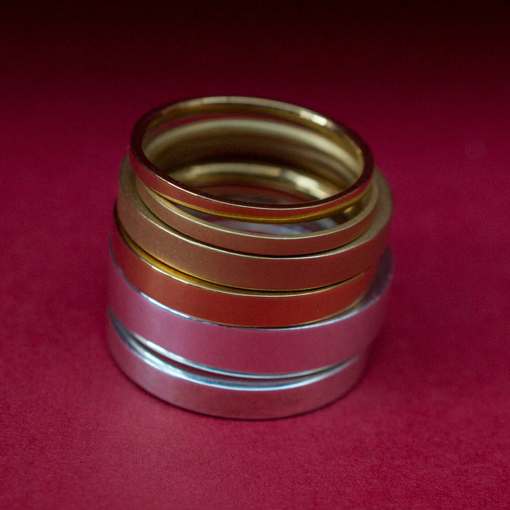 fine wedding ring | stacked rings