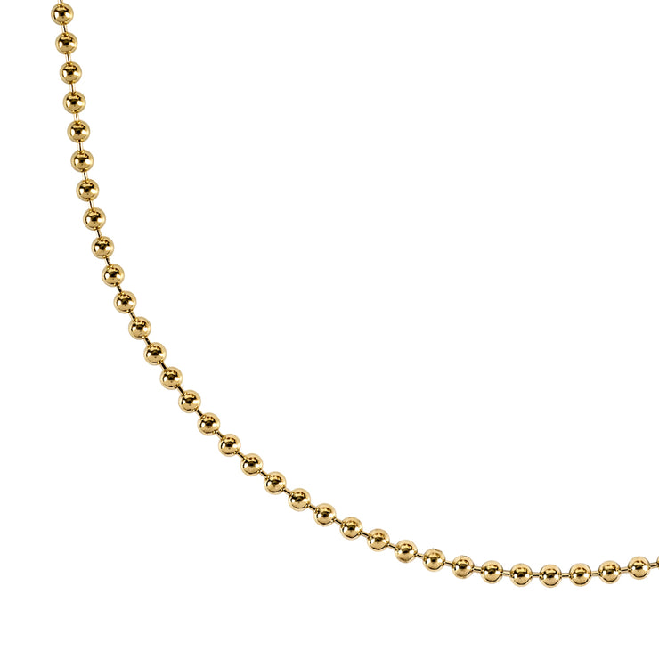 gold ball chain necklace | detail