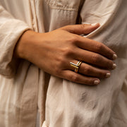 kitson silver ring | how to wear stacked