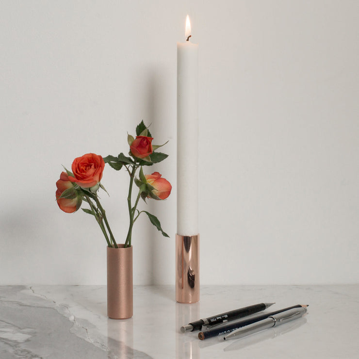 polished copper pot | candle holder | flower vase | pen holder