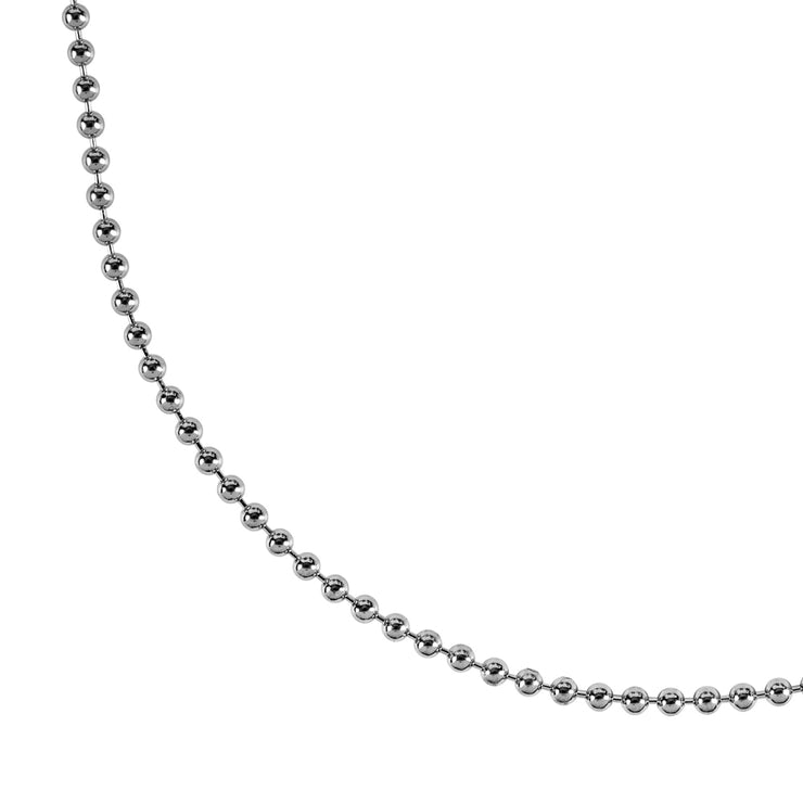 silver ball chain necklace | detail