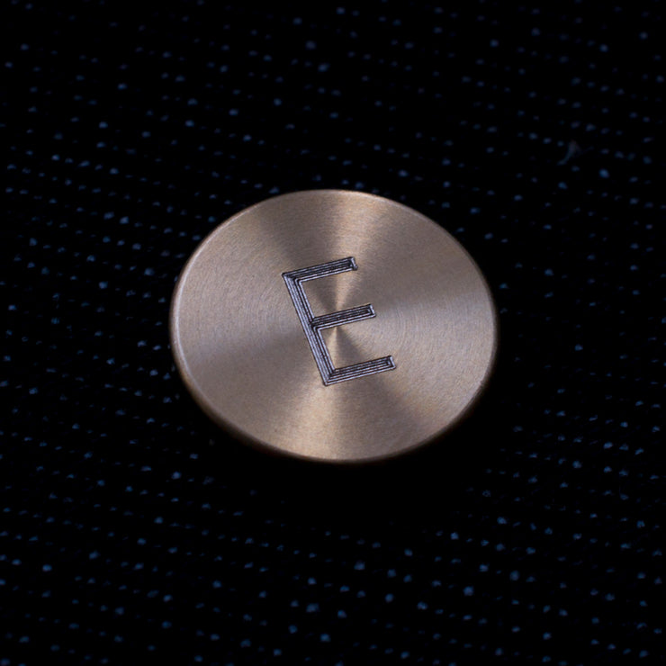 dot brass engraved pin | initial
