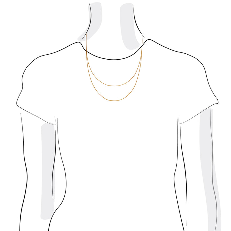 dot gold womens chain | 45-55cm