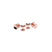 Elliot rose gold cufflinks and shirt stud set