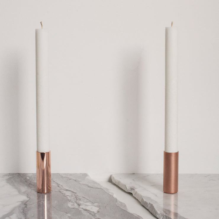 polished copper pot | copper candle holder