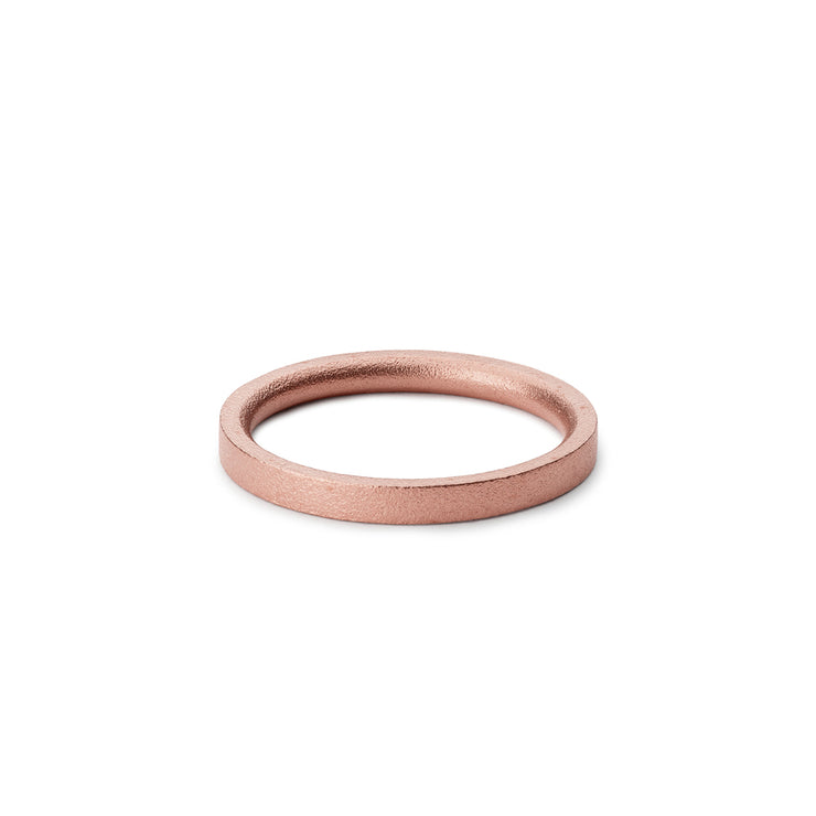 3mm blasted rose gold wedding ring | wedding band