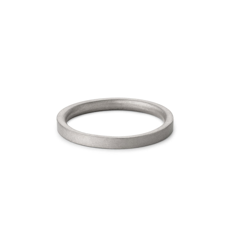 3mm matte white gold wedding ring | wedding band
