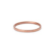 18 carat rose gold blasted wedding ring