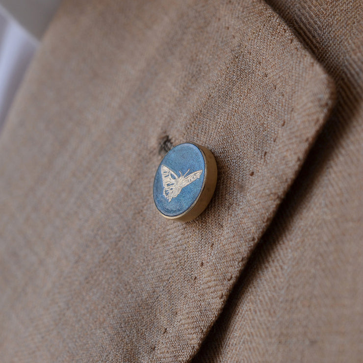 blue butterfly pin | detail