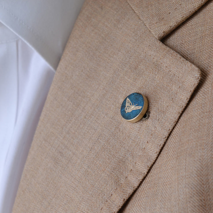blue butterfly pin