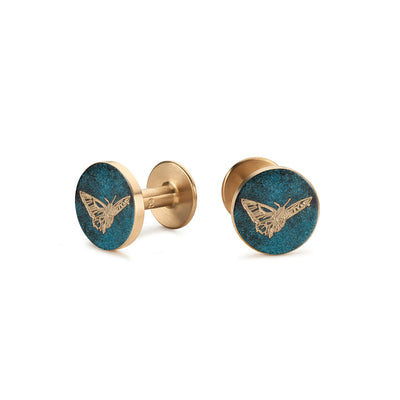 butterfly cufflinks | lustrous green | give back