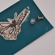 cufflinks | jess bird illustration | green