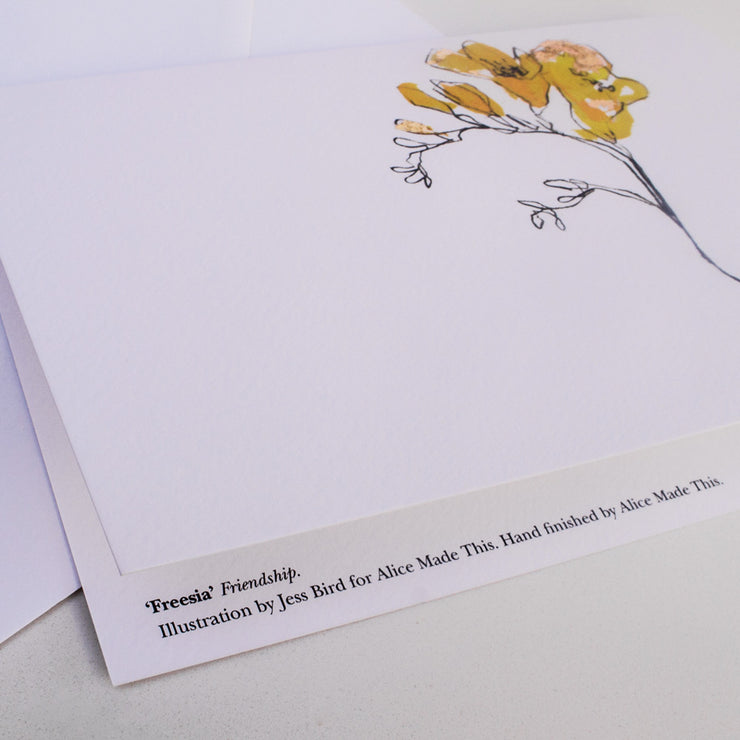 freesia greeting cards | hand-painted | friendship