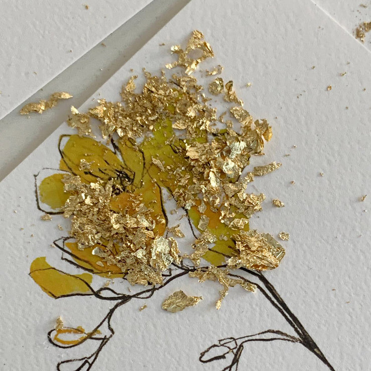 hand made correspondence cards | gold leaf | friendship