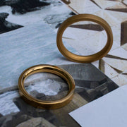 mens solid gold wedding band | designer mens ring | Alice Made This