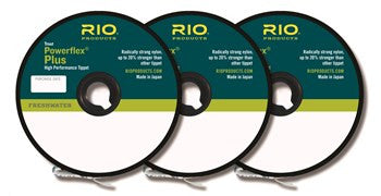 Rio Powerflex plus tippet 3-pack