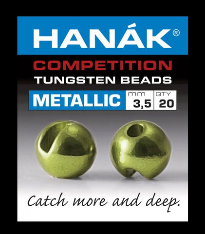 Hanak metallic Tungsten slotted beads