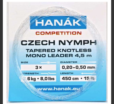 Hanak Czech Nymph tapered knotless leader