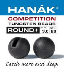 Hanak Slotted Round+ tungsten beads