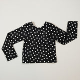 KATERINA SCOOP BACK TOP - BLACK AND WHITE DOTS