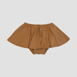 Bamboo High Waist Ruffle Shorties - Sepia