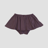 Bamboo High Waist Ruffle Shorties - Dusty Plum