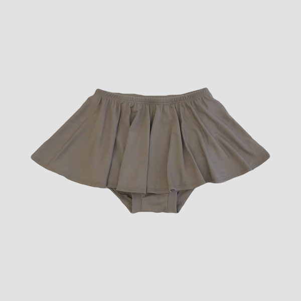 Bamboo High Waist Ruffle Shorties - Stone