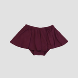 Bamboo High Waist Ruffle Shorties - Sangria