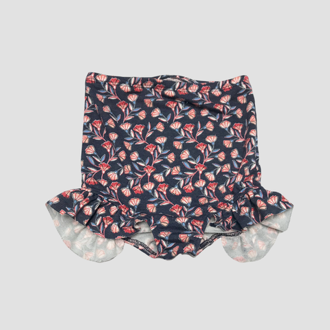 French Terry High Waist Shorties - Floral